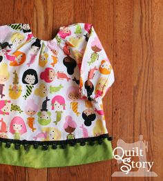Quilt Story: Baby Girl Peasant Top DIY