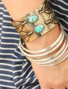 the geronimo cuff. turquoise love.