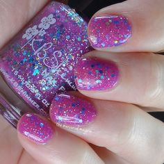 Brand: KBShimmer // Collection:  Summer 2015 // Color: Pink-A-Colada // Blog: The Mercurial Magpie