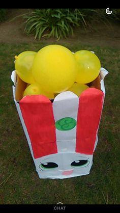 Poppy Corn shopkin party prop