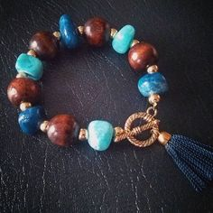 Soon at the ZuVero store!  www.zuvero.etsy.com  #zuvero #handmade #jewelry #natural #gemstone #wood #quartzite #toggle #tassel #blue #turquoise #gold #style #laborday #newcollection #fall #houston #texas