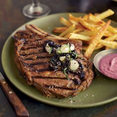 Grilled Steaks with Onion Sauce and Onion Relish | Food & Wine: