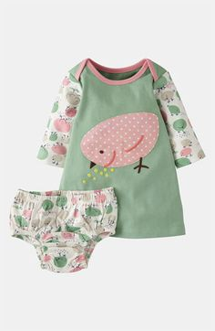 Mini Boden Appliqué Dress (Infant) available at Nordstrom