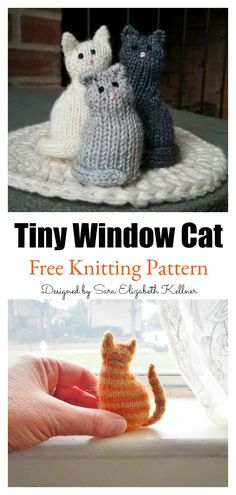 Tiny Window Cat Free Knitting Pattern Startknittingfreepattern Amigurumipattern Catpattern - tiny window cat free strickmuster startknittingfreepattern amigurumipattern catpattern - minuscule fenêtre chat modèle de tricot gratuit commencer à Easy Knitting Projects, Knitting For Beginners, Crochet Projects, Sewing Projects, Diy Knitting Ideas, Beginning Knitting Projects, Diy Crafts Knitting, Knitting Tutorials, Craft Projects