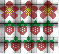 MariannAn's No 40 - Strawberry fields forever Knitted Mittens Pattern, Fair Isle Knitting Patterns, Fair Isle Pattern, Knitting Charts, Knitting Designs, Knitting Stitches, Crochet Cross, Crochet Chart, Charts And Graphs