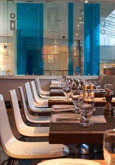 An artistically designed eatery, BITE Restaurant.