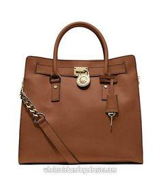 Michael Kors Handbags MK Series Hamilton Saffiano Large Satchels Brown  WBMKHB150589 Michael Kors Luggage 419720b712f36