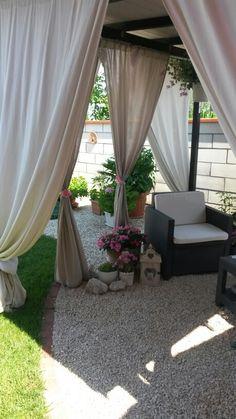 Pergola patio privacy outdoor curtains ideas for 2019 Outdoor Curtains For Patio, Outdoor Privacy, Pergola Patio, Outdoor Rooms, Backyard Patio, Backyard Landscaping, Outdoor Decor, Pergola Kits, Pergola Ideas