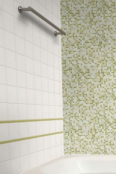 FTI Streamline Florida Tile, Arctic with Tropical Glass Mosaic