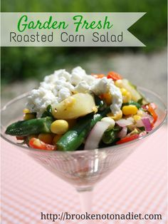 Quick and easy salad to use up those garden goodies via @Brooke: Not On a Diet