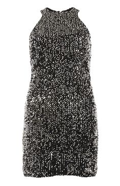 Primark - Black And Silver Racer Sequin Dress