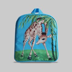 Excited to share the latest addition to my #etsy shop: Rybka - Small Backpack 2-3 Years, Kids Backpack, Toddler Bag, Preschool Kids, Playgroup bag, Giraffe http://etsy.me/2CDuuRf #bagsandpurses #backpack #blue #green #kids #toddlerbag #preschoolkids #playgroupbag #gift