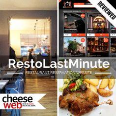 Resto Last Minute restuarant reservation website review, Brussels, Belgium
