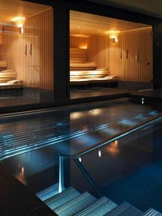 ESPA Life at Gleneagles - Vitality Pool and sauna Glass walls- sauna spa area