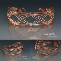 I'm trying out a new design concept. I think I really like it in copper too. Here is the tutorial if you'd like to learn how to make this too. www.etsy.com/... -Lisa Barth                                                                                                                                                      More