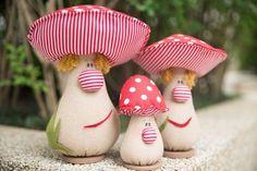 Cogumelos em patchwork da Amellie - Amellie Bonecas e Patchwork