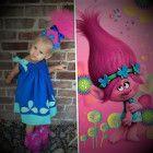 Poppy trolls pillowcase dress and headband Tulle Headband, Shirt Sleeves, Poppy, Princess Peach, Super Cute, Halloween, Dress, Products, Dresses