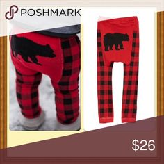 Grizzly Cozy Knit Leggings These adorable grizzly leggings are super comfy and cozy. They are constructed with a generous cut, designed to fit over a cloth diaper. Reinforced seams. Perfect for the winter! Available in S( fits 3-12 mo), M( fits 12-18 mo), L( fits 18 mo- 2 1/2 yrs). Comes to you in its original sealed packaging. sandystarfish Bottoms Leggings