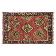 Check out this item at One Kings Lane! Sara Kilim Rug, Red/Multi