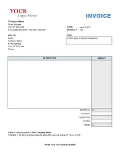 download invoice template for word | invoice template | places to, Invoice templates