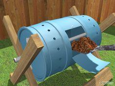 Aprende a construir un deposito de composta giratorio vía es.wikihow.com
