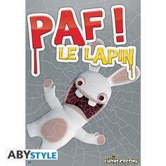 LAPINS CRETINS Poster Lapins Crétins Paf Le lapin (98X68)