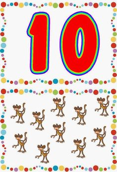 Descripción: Identificación de números. Asociación número cantidad. En el álbum picasa de Ángeles Ulecia hemos encontrado estas cartas ... Numbers Preschool, Math Numbers, Preschool Math, Math Games, Preschool Activities, Animated Numbers, Flashcards For Kids, Teaching The Alphabet, Drawing For Kids