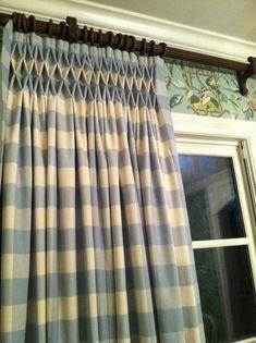 Smocked Window Treatment by lisahooddesigns.blogspot.com