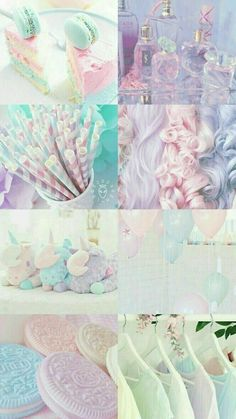#pastel #pink #blue #yellow #green #colour #inspiration