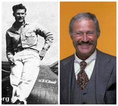 Dan Rowan-Army Air Corps-WW2-fighter pilot-2nd Lieutenant-survived a plane crash (Comedian -Laugh In)