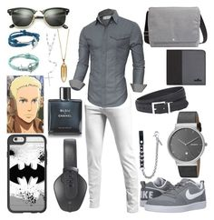 """""""Thomas Wagner"""" by vampirekitty34 ❤ liked on Polyvore featuring NIKE, Chanel, Skagen, Pryma, Ray-Ban, Casetify, Akillis, Dsquared2, Hogan and Armani Jeans"""