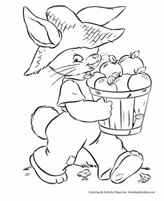 Peter Cottontail Coloring Pages - Peter Cottontail on the Farm