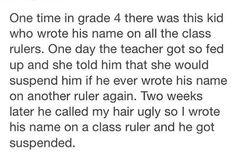 Revenge has the fourth grade | lol tumblr
