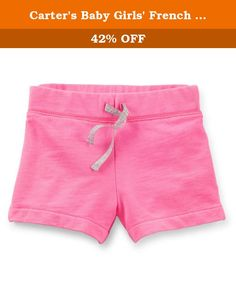 Carter's Baby Girls' French Terry Shorts (Baby) - Bright Pink - 6 Months. Carter's French Terry Shorts (Baby) - Bright Pink Carter's is the leading brand of children's clothing, gifts and accessories in America, selling more than 10 products for every child born in the U.S. Their designs are based on a heritage of quality and innovation that has earned them the trust of generations of families.