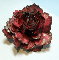 Paper cabbage rose flower tutorial.