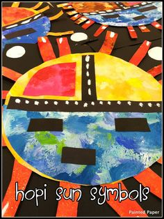 PAINTED PAPER: More Georgia O'Keefe Art..... Adapt for Hispanic Heritage Month as Metapec Suns
