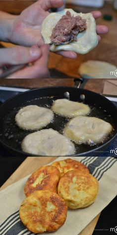 Piroshky filled with meat, they are a #1 Russian food treat.