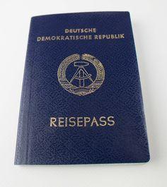 """DDR Museum - Museum: Objektdatenbank - """"Reisepass"""" Copyright: DDR Museum, Berlin. Eine kommerzielle Nutzung des Bildes ist nicht erlaubt, but feel free to repin it!"""