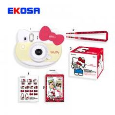 [ $23 OFF ] Genuine Fujifilm Instax Mini 8 Camera New Style Hello Kitty Camara Fotografica Instatanea Instant Camera Red Pink Gift Packaging