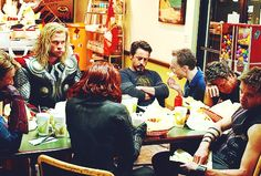 Tom Hiddleston Tag Funny LOL #JustForFun Tom / Avengers post credit scene mash-up From http://weheartit.com/entry/107790248