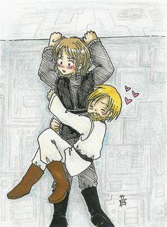 Never let go - Anakin Skywalker & Obi-Wan Kenobi - Obikin fanart