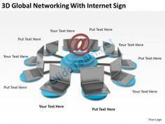 3D Global Networking with Internet Sign Ppt Graphics Icons #Powerpoint #Templates #Infographics