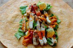 buffalo chicken salad wrap