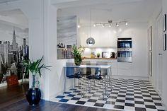 Cozinha quadriculada