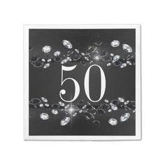 Shop Women's Birthday White Sparkly Diamond Paper Napkins created by TheBirthdayHub. Party Napkins, Cloth Napkins, 30th Birthday, Different Styles, Diamond, Paper, Red, 30 Year Anniversary, Thirty Birthday