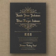 Regal Crest - Classic Invitation - Choose Your Color - Wedding Invitations - Wedding Invites - Wedding Invitation Ideas - View a Proof Online - #weddings #wedding #invitations