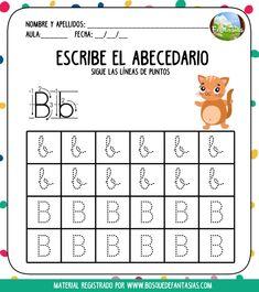 escribir el abecedario hoja 2 Math For Kids, Word Search, Teaching, Education, Words, Jewel, Flower, Speed Reading, Preschool Alphabet Activities