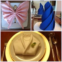 my cool napkin folding - well, some of ideas