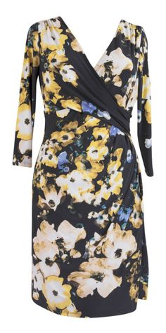 Ralph Lauren Faux Wrap Floral Print Jersey Dress  Size 14 Gorgeous #RalphLauren #WrapDress #WeartoWork