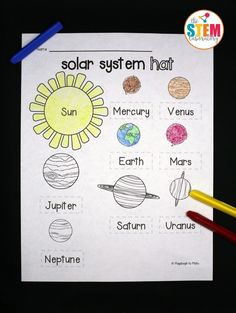 I love, love, love this outer space craft! Make a solar system hat.